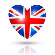Love United Kingdom, heart flag icon — Stock Photo