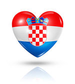 Love Croatia, heart flag icon — Stock Photo