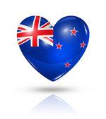 爱新西兰,心标志图标 — 图库照片