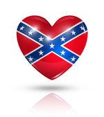 Love confederate, heart flag icon — Stock Photo