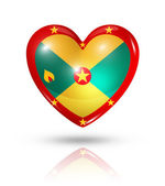 Love Grenada, heart flag icon — Stock Photo