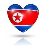 láska severní korea, ikona příznaku srdce — Stock fotografie
