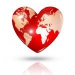 Love earth, heart icon — Stock Photo #31993521