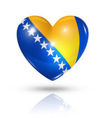 Love Bosnia and Herzegovina, heart flag icon — Stock Photo