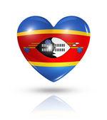 Love Swaziland, heart flag icon — Stock Photo