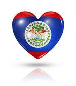 Love Belize, heart flag icon — Stock Photo