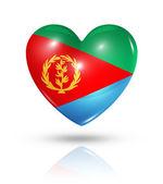 Love Eritrea, heart flag icon — Stock Photo