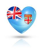 Love Fiji, heart flag icon — Stock Photo