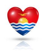 Love Kiribati, heart flag icon — Stock Photo