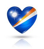 Love Marshall Islands, heart flag icon — Stock Photo