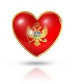 Love Montenegro, heart flag icon — Stock Photo