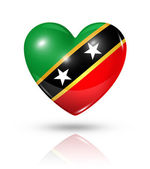 Love Saint Kitts And Nevis, heart flag icon — Stock Photo