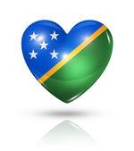 Láska šalamounovy ostrovy, ikona příznaku srdce — Stock fotografie