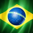 Brazil soccer world cup 2014 flag — Stock Photo
