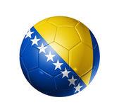 Soccer football ball with Bosnia and Herzegovina flag — Stock Photo