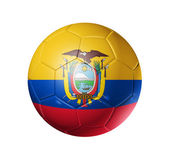 Soccer football ball with Ecuador flag — Stock Photo
