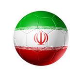Soccer football ball with Iran flag — Foto de Stock