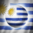Soccer football ball with Uruguay flag — Stock Photo #37234923