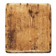 Old grunge wood board isolated on white — Stock Photo