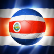 Stock Photo: Soccer football ball with CostRicflag