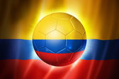 Soccer football ball with Colombia flag — Stock Photo