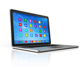 Laptop Computer - apps icons interface — Stockfoto