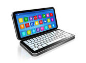 Smartphone, Netbook - apps icons interface — Stock Photo