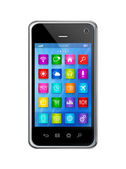 Smartphone Touchscreen HD - apps icons interface — Stock Photo