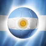 Soccer football ball with Argentina flag — Stock Photo #43199919