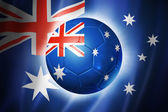 Soccer football ball with Australia flag — Stock Photo