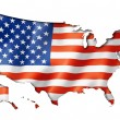 United States flag map — Stock Photo