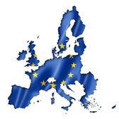 European union flag map — Stock Photo