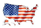 United States flag map — Stock Photo