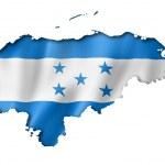 Honduras flag map — Stock Photo #48123959