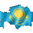 Kazakhstan flag map — Stock Photo #48126353