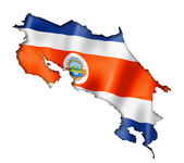Costa Rican flag map — Stock Photo