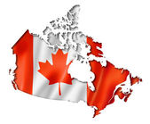 Canadian flag map — Stock Photo