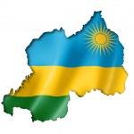 Rwanda flag map — Stock Photo #48834949