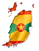 Grenada flag map — Stock Photo