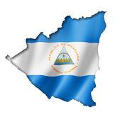 Nicaragua flag map — Stock Photo