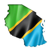 Tanzania flag map — Stock Photo