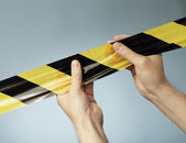 Barrier Tape — Stock Photo
