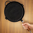Cast iron grill pan — Stockfoto