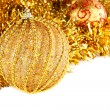 Golden Christmas decoration — ストック写真
