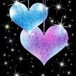 Sparkling hearts — Stock Photo