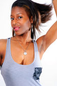 Young Lady in Tank Top — Stock Photo
