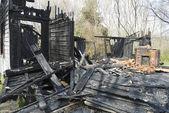 Burned House — Stock Photo