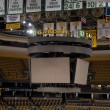 Scoreboard at the TD Garden on May 23, 2011 in Boston. The TD Garden is home to the Boston Celtics and Boston Bruins. - Zdjęcie stockowe