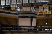 Scoreboard at the TD Garden on May 23, 2011 in Boston. The TD Garden is home to the Boston Celtics and Boston Bruins. — Stock Photo