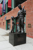 Estatua de williams en el fenway park de boston massachusetts Ted — Foto de Stock